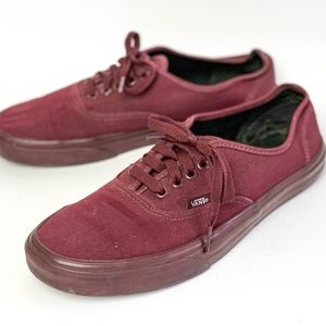 Vans Classic Skate Shoes Size 9.5 All Red